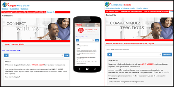 How Colgate does web and mobile self-service