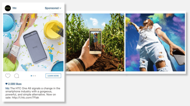 Example of Instagram ad from HTC