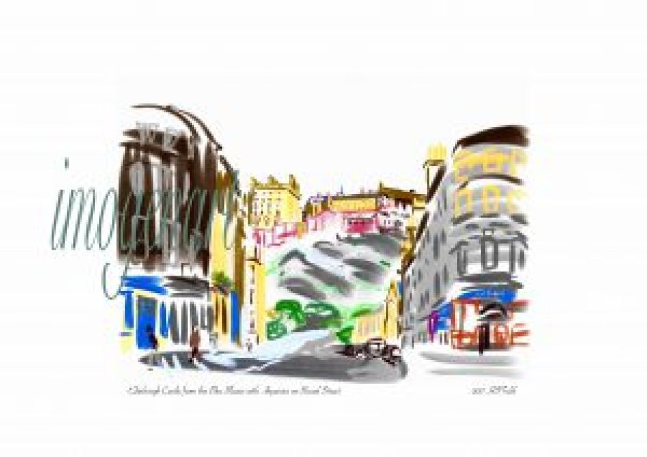 iPad print of Edinburgh Castle from the Blue Blazer with Aquarius