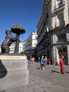 Bear and Strawberry Tree Statue