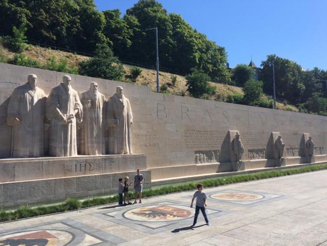 Reformation Wall at Parc des Bastions, Geneva, Switzerland