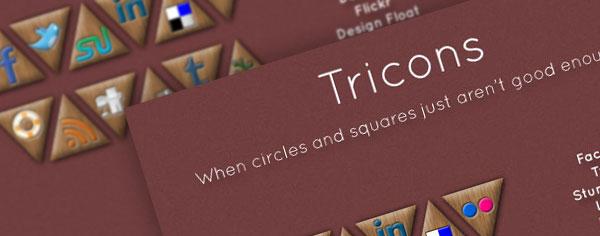 Free Social Media Icons: Tricons