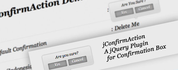 Query Plugin jConfirmAction