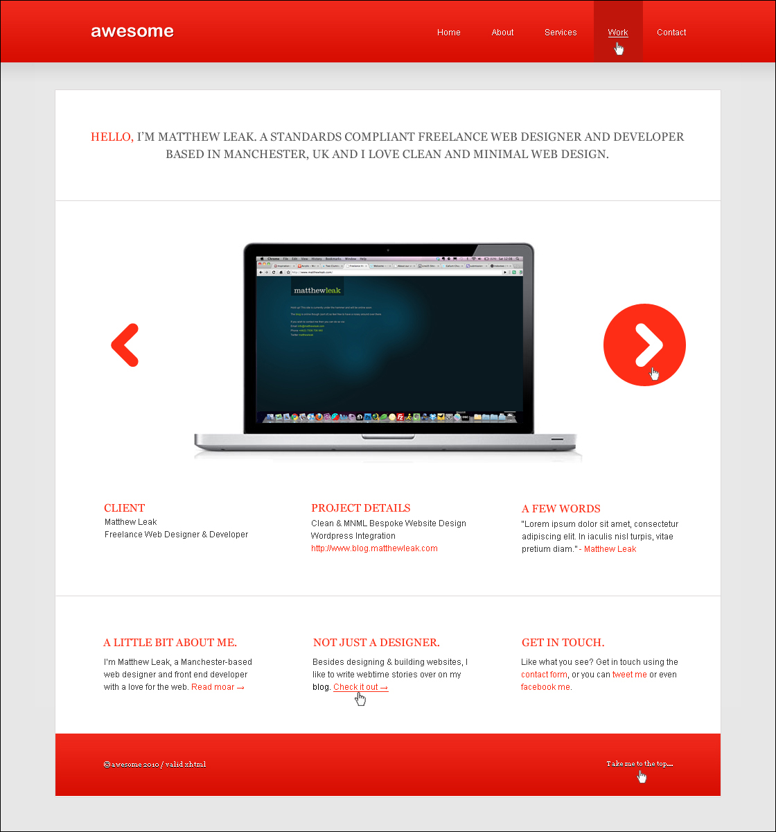 Code an Awesome Minimal Design from PSD to XHTML & CSS