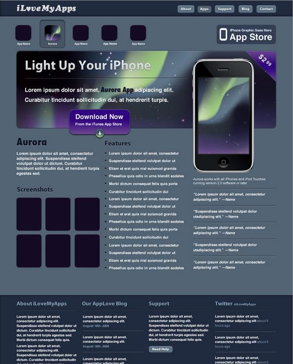 Promotional iPhone App Site