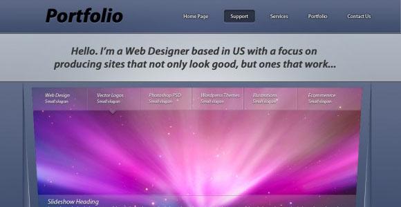 Portfolio Layout Design Tutorial with 3D Look