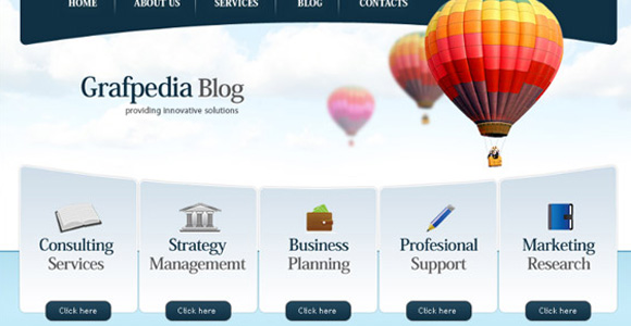 Design a trendy business & finance layout