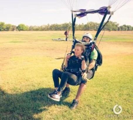 tandem, skydive, skydiving, landing, smooth tandem landing, easy land skydive