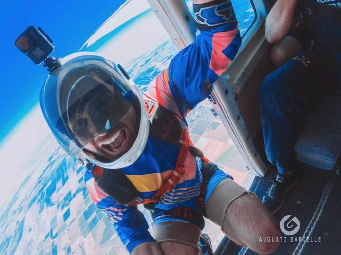 Happy face when skydiving in Empuriabrava