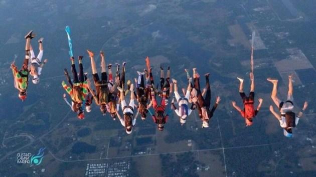 FlajFlaj team in Skydive Elsinore flying together.