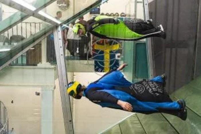 Indoor Wingsuit pro flyers in Stockholm