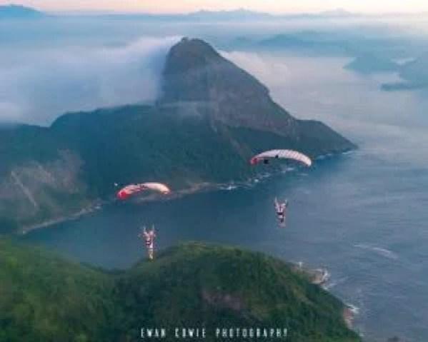 skydiving social media photo