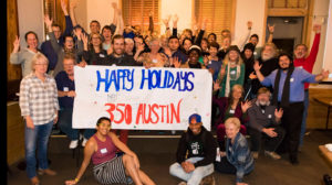 350 Austin Holiday event