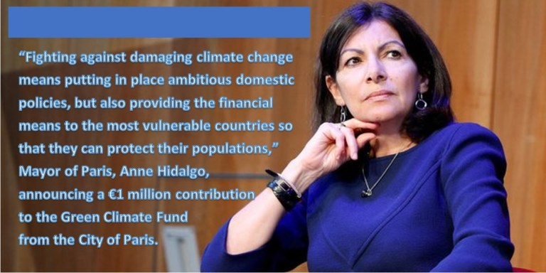 Fighting against climate change means providing financial assistance to the most vulnerable countries and communities around the globe.