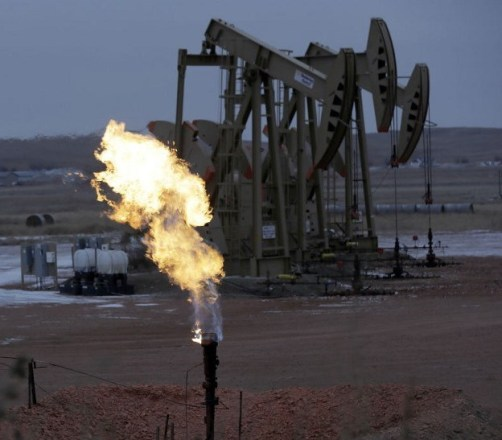 Gas flare in fracking