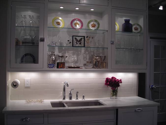 kitchen under cabinet lighting home depot backsplash glass tile project photos: puck lights, lights ...