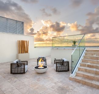 Fire Pit at 3550 South Ocean Condominiums