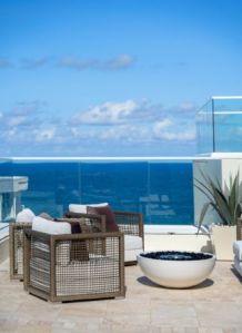 Oceanview Outdoor Seating at 3550 South Ocean Condos