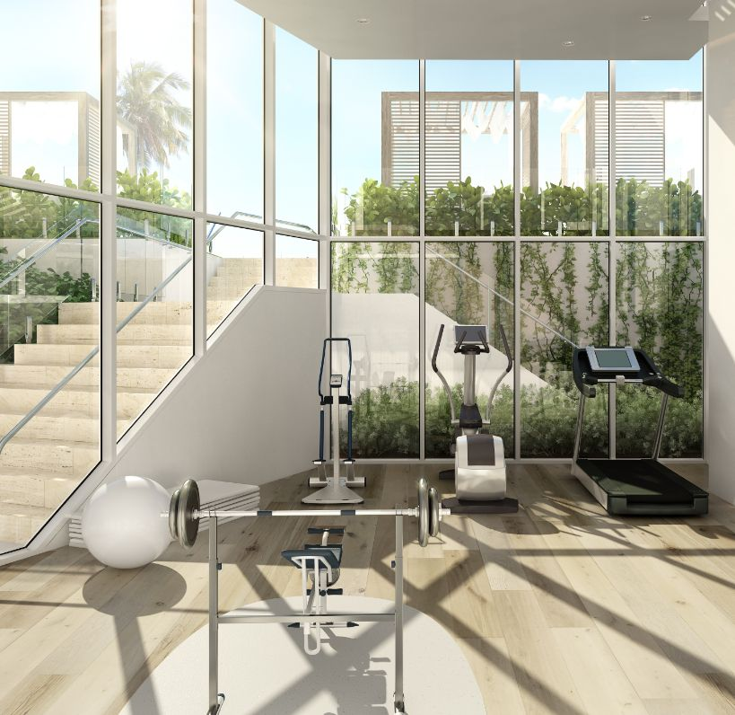 Fitness Gym at 3550 South Ocean Condos