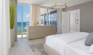 Bedroom with a View at a 3550 South Ocean Codo Residence