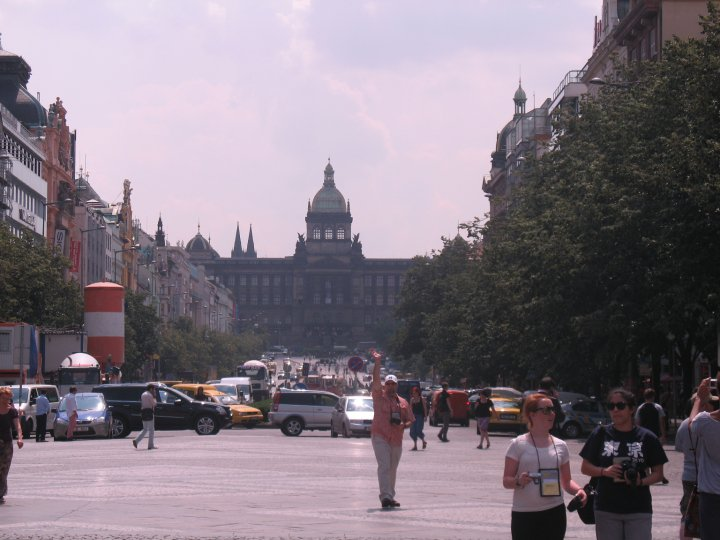 Wenceslas Square, leading to the National Museum