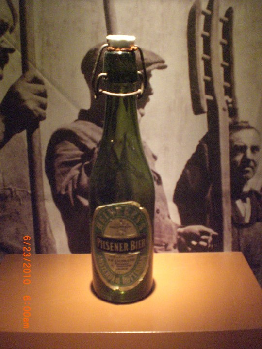 An old Heineken bottle