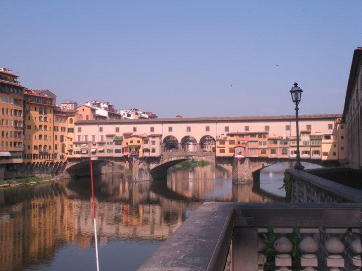 Ponte Vecchio, medieval stone bridge over the Arno river