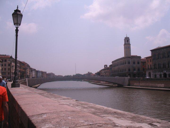 The Arno river in Pisa