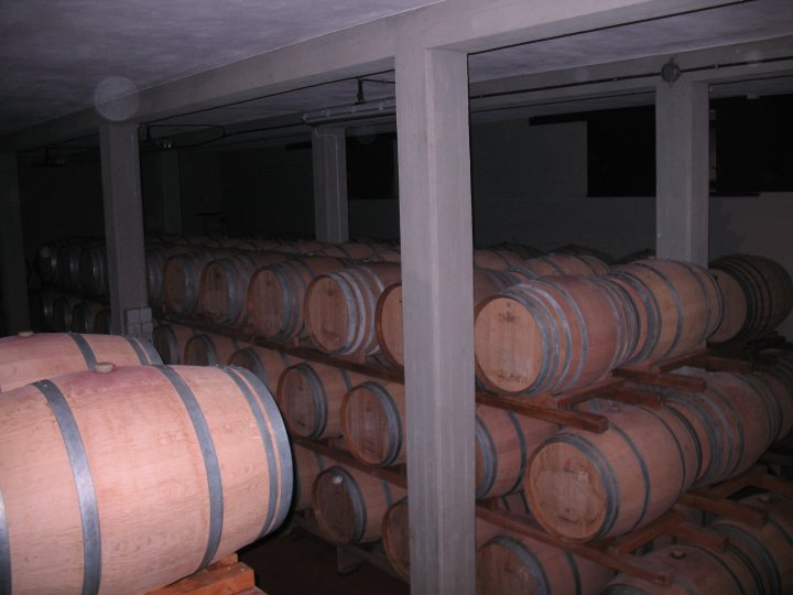 Storage barrels for Chianti Classico