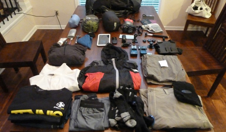 The packing list – so how much is 35 liters?