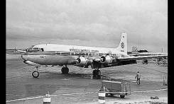 The DC-6 was the workhorse of the early ONA. The DC-6 was used primarily for MATS flights. (Photo courtesy Balsey DeWitt)