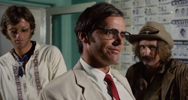 De izquierda a derecha: Peter Fonda, Jack Nicholson y Dennis Hopper.