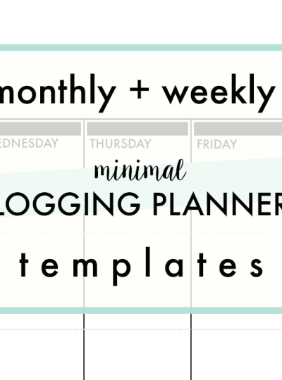 iHeartBlogging | Weekly + Monthly Planners for Bloggers