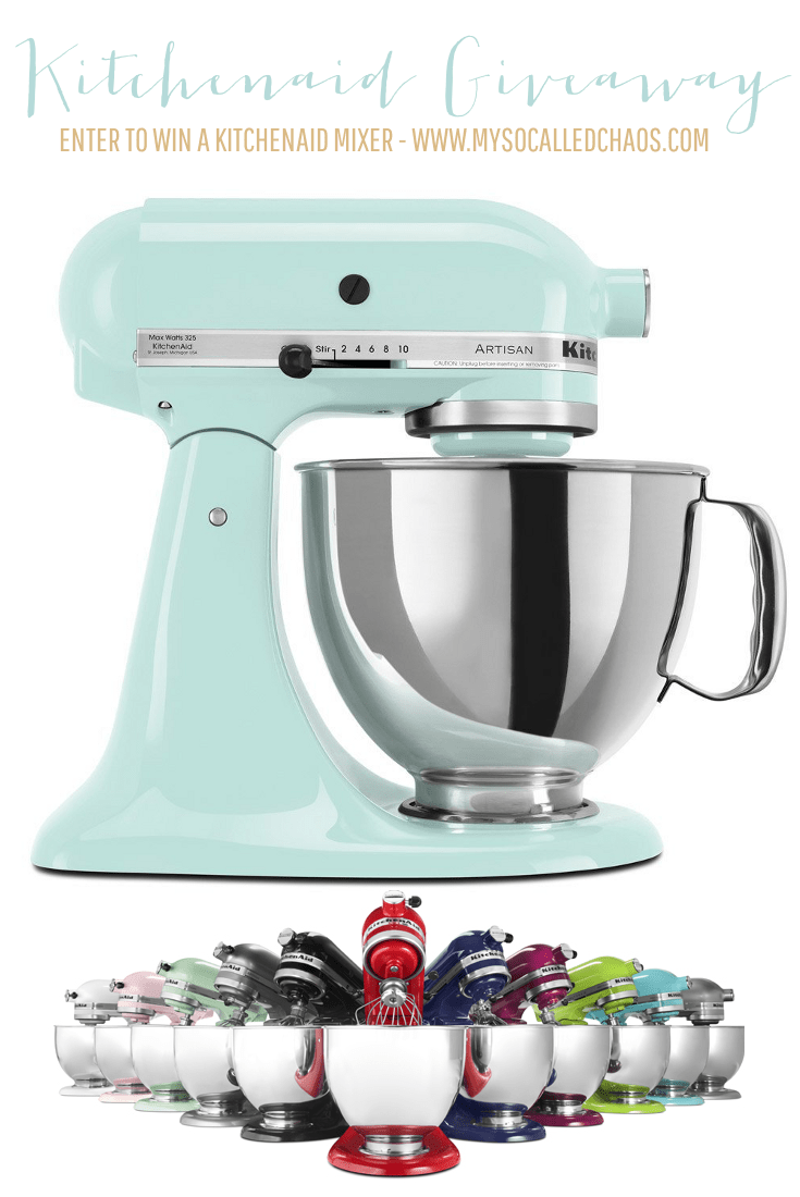 Enter to win a Kitchenaid Mixer