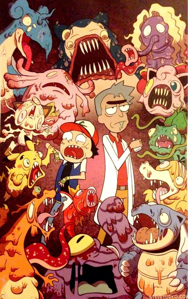 pokémon rick and morty
