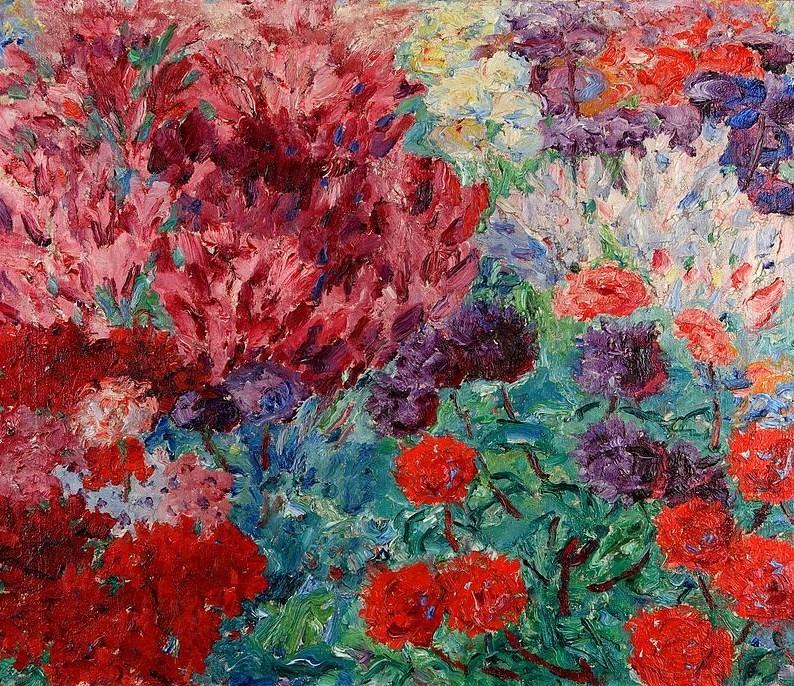wonderingaboutitall:  Blumengarten, Ohne Figur - Emil Nolde