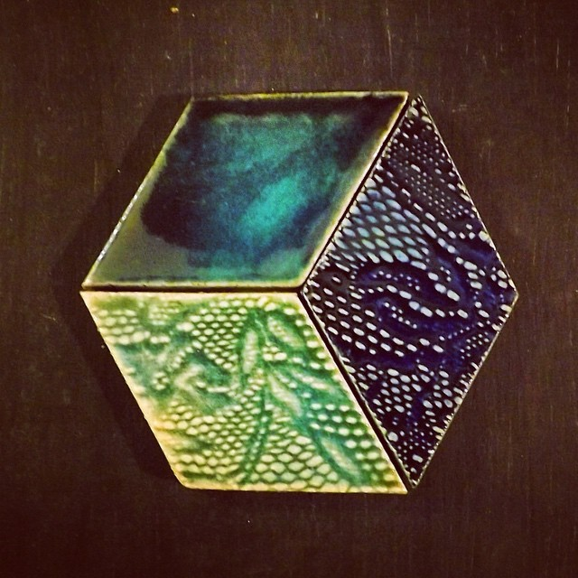 Newest addition to the #guymitchelldesign #etsy #shop (link is at the top of my profile) #gorgeous #diamond #shape #handmade #tiles in three glazes. #tile #aqua #blue #pattern #texture #ceramic #walltiles #interior #interiors #interiordesign #decor #décor #luxury #artisan #geometric #cube #design #art #aquamarine #turquoise #luxe