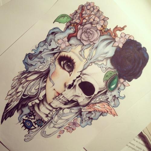 Old School Small Skull Tattoos