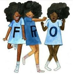 Pretty Cute Cartoon Curly Hair Afro Natural Hair Fro Natural Hair