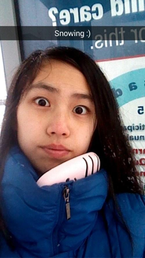 cold selfie
