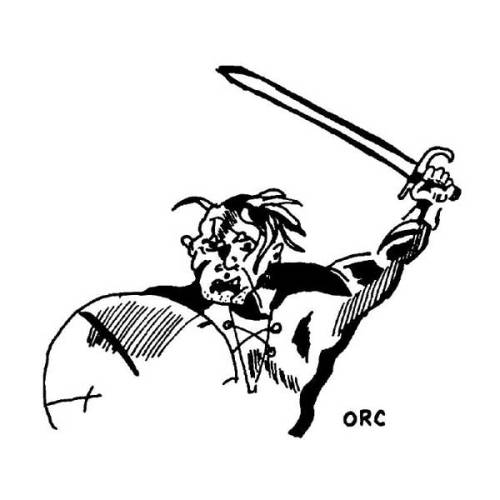 The earliest version of an orc in an official D&D