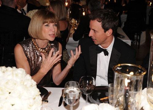 Anna Wintour and Seth Meyers