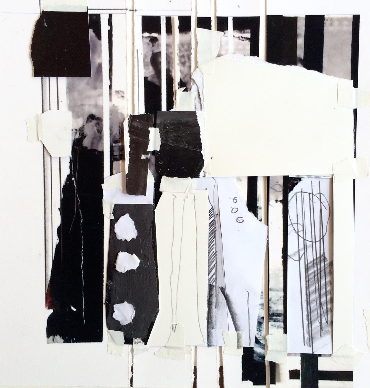 stuartshils: orpheus's mood after the departure of eurydice torn paper, digital photograph, graphite