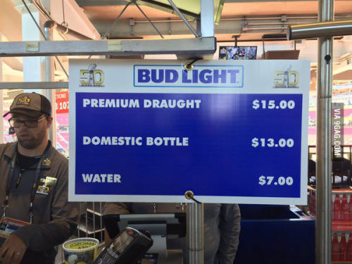 Beer prices at Super Bowl 50http://ragecomics4you.tumblr.com