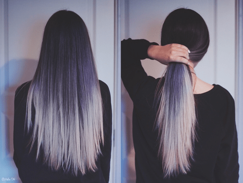 Grey And Black Ombre Hair