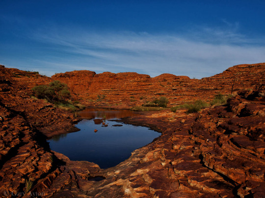 waterhole at the eastern part of the rim