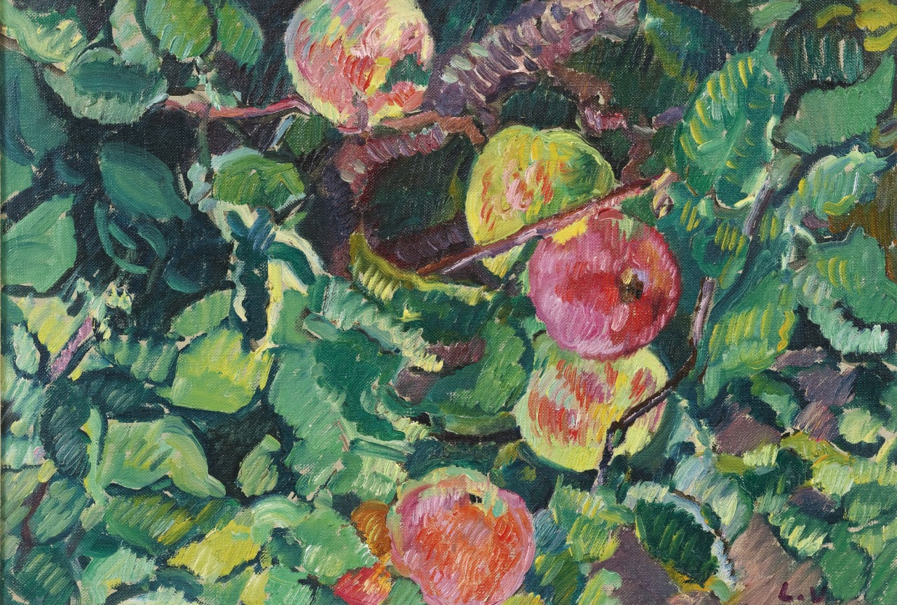 thunderstruck9:  Louis Valtat (French, 1869-1952), Branche de pommier [Apple tree branch], c.1928. Oil on canvas, 38.1 x 55.6 cm.