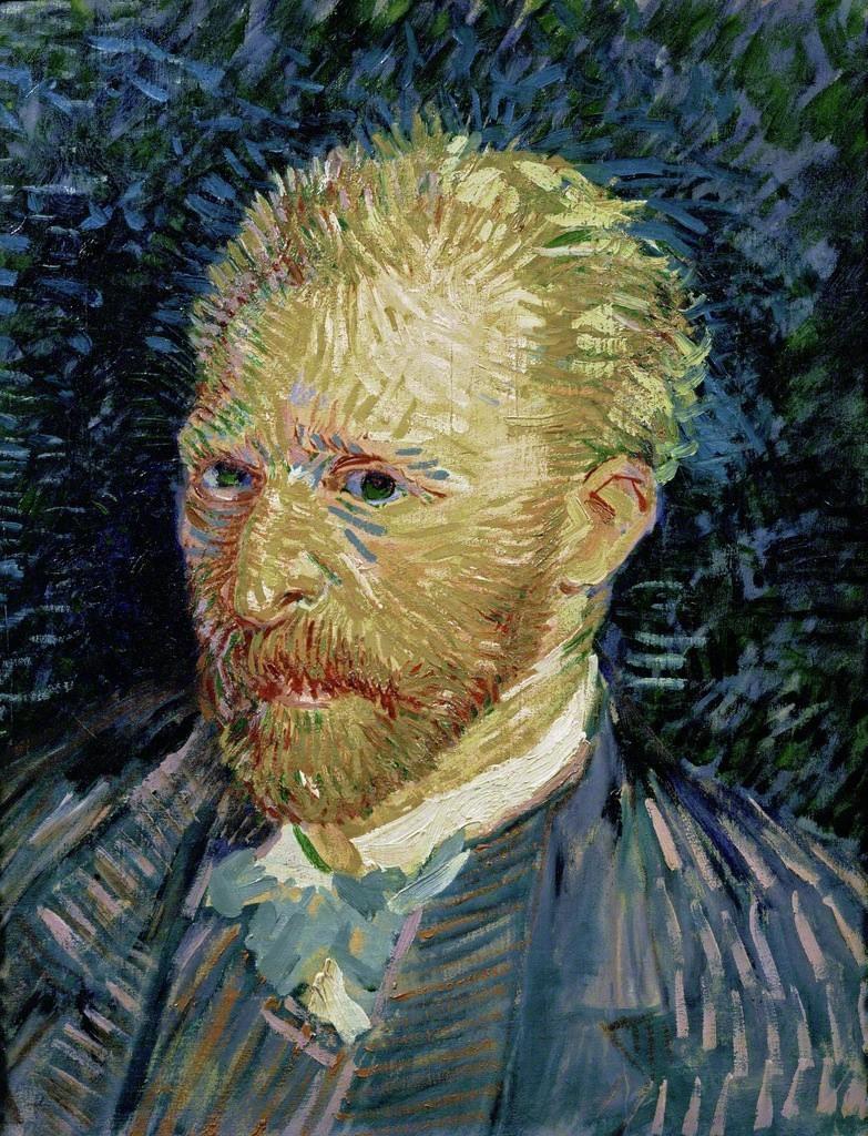 transistoradio: Vincent van Gogh (1853-1890), Self-Portrait (1887), oil on canvas, 35.1 x 44.1cm. Collection of Musée d'Orsay, Paris, France.