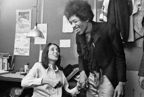 Joan Baez and Jimi Hendix