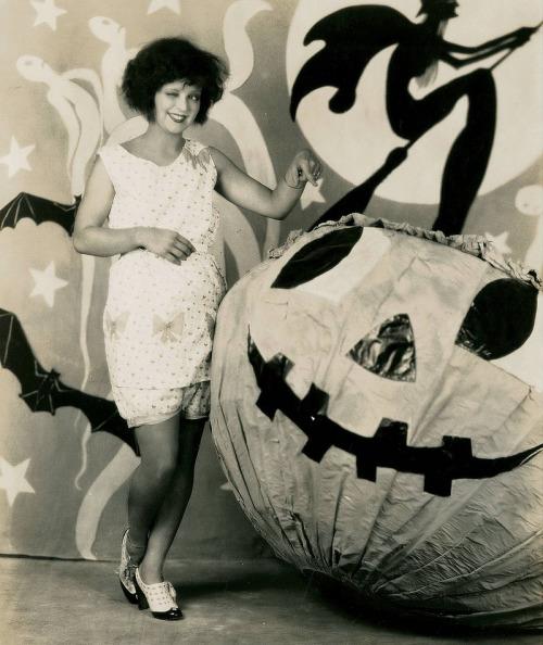 clara bow halloween pumpkin vintage antique